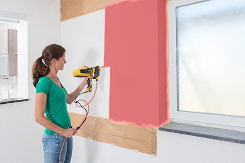 Poradnik - malowanie ścian - pistoletem natryskowym